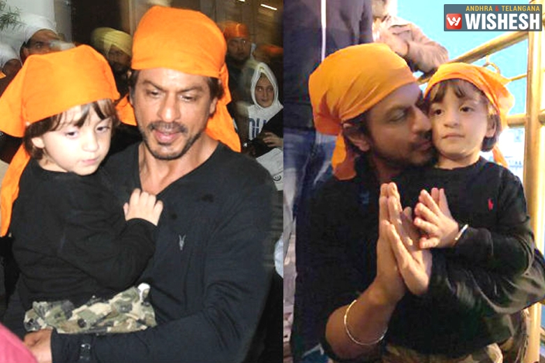 Shah Rukh Khan Visits Golden Temple Along with AbRam